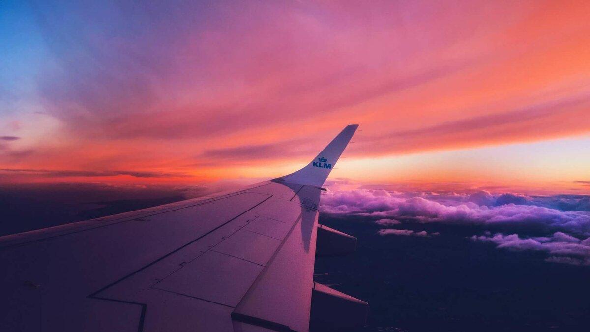 Картинки с небом и самолетом