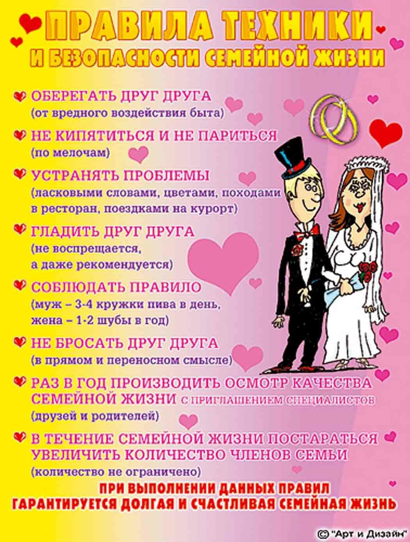 Шуточное поздравление с днем свадьбы от подруги