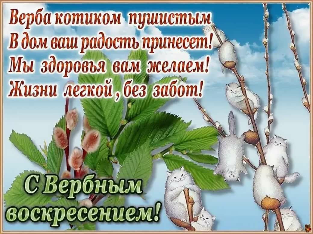 Открытка днем, открытка с поздравлением с наступающим вербным воскресеньем