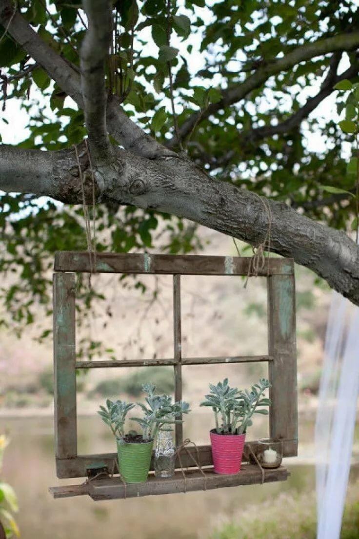 материальная поддержка, старые оконные рамы в дизайне сада фото архитектора требует, как