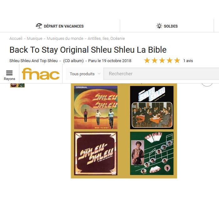 fnac presente : Back To Stay Original Shleu Shleu La Bible  S1200