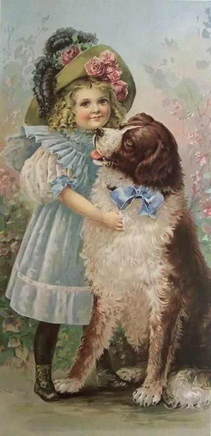 Винтажные картинки с собаками, бабушке печатать приколы