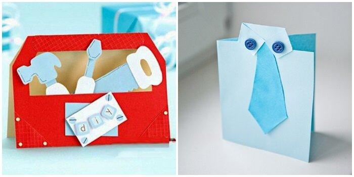 Открытка на день рождения своими руками из бумаги для дедушки