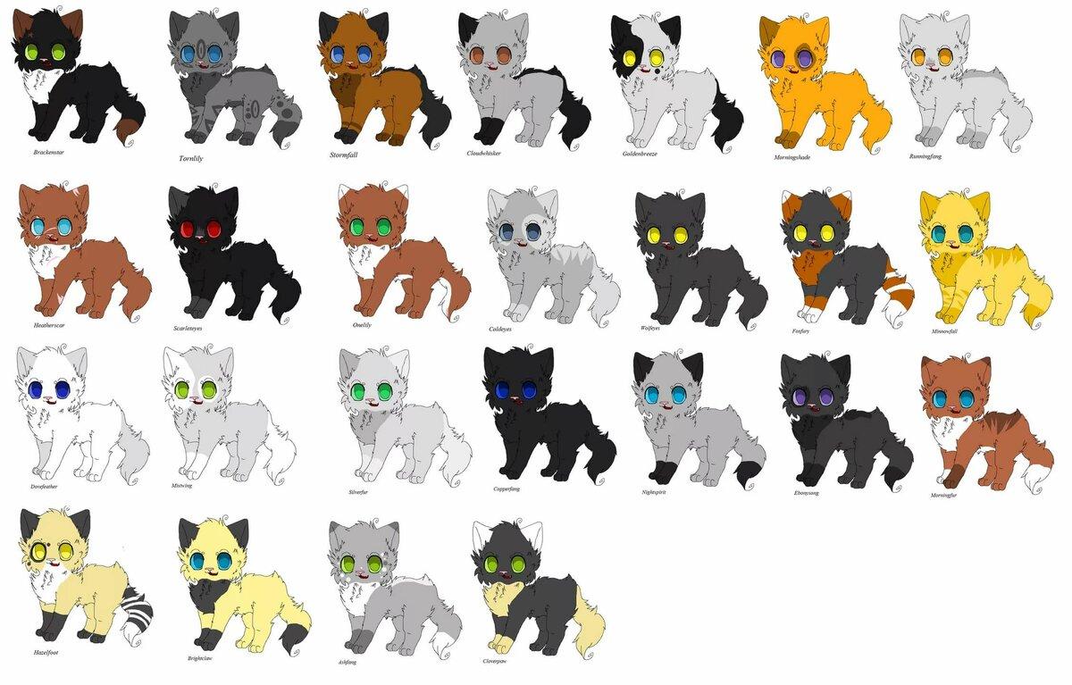 Картинки персонажей коты воители