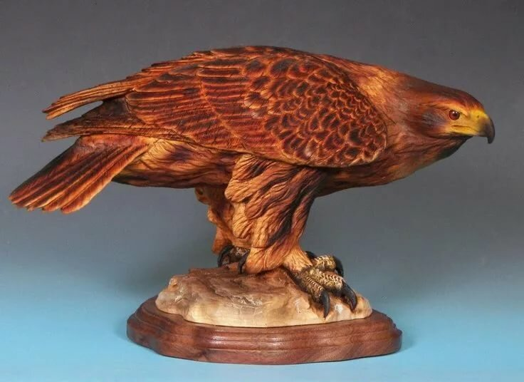 резной орел из дерева картинки каталоге компании