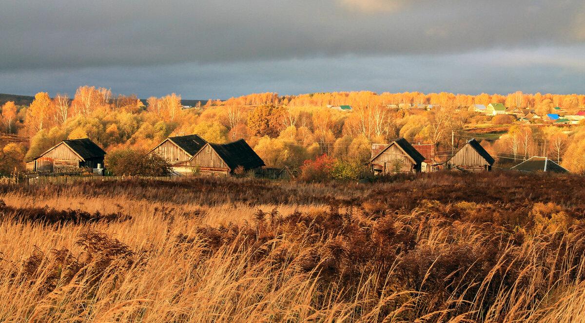 Картинки на тему осень в деревне