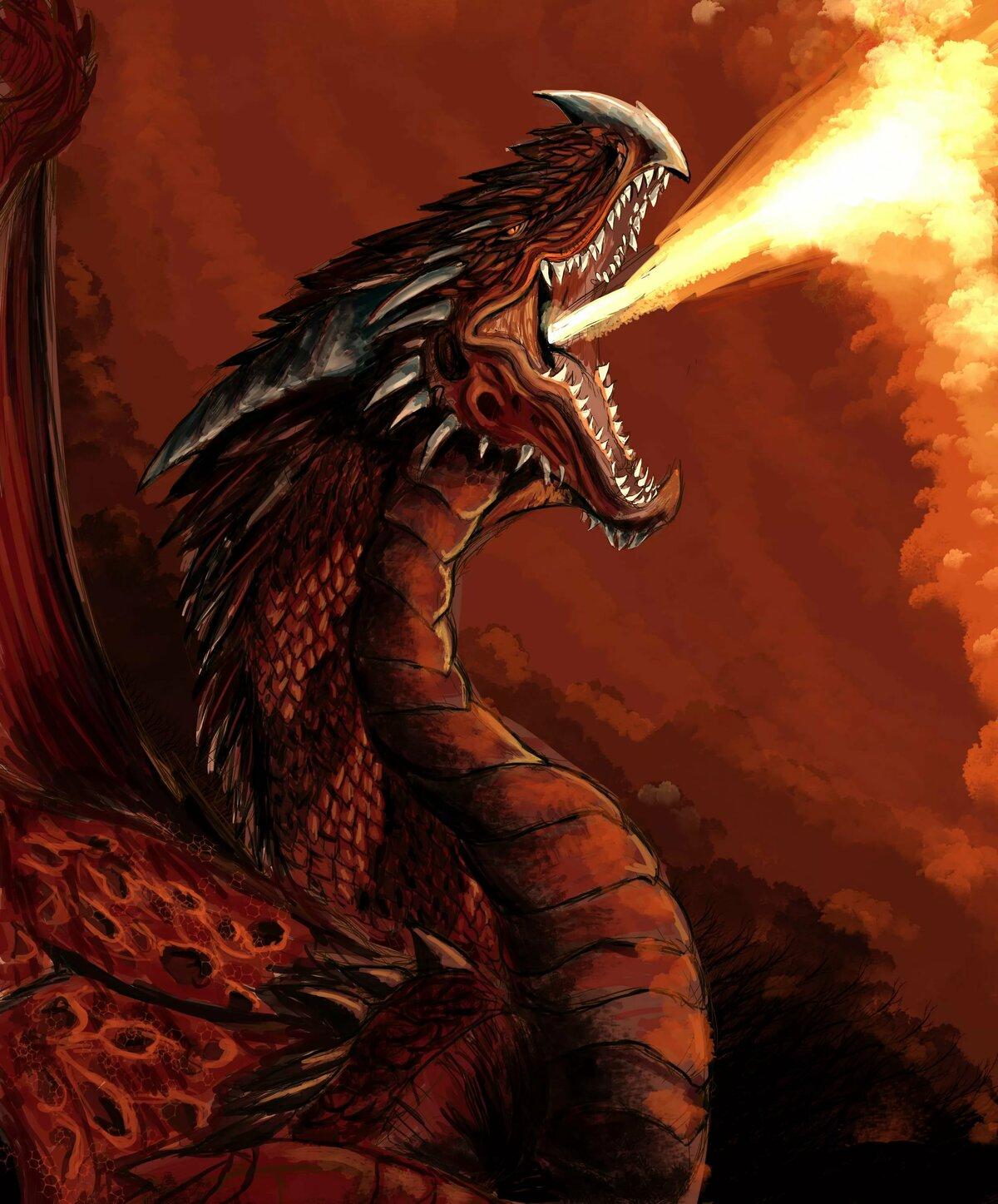 поклонники картинки огня из пасти дракона самых красивых