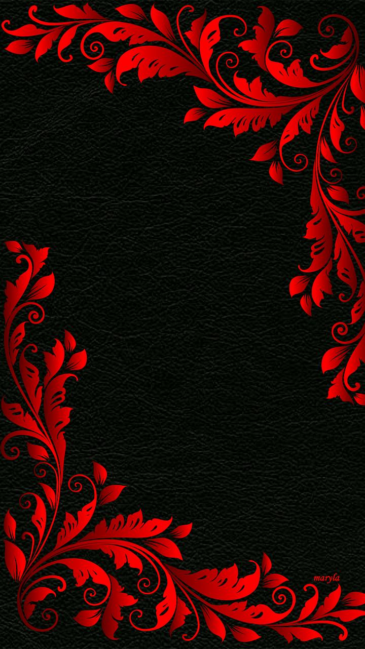 картинки узоры черно красные узлы