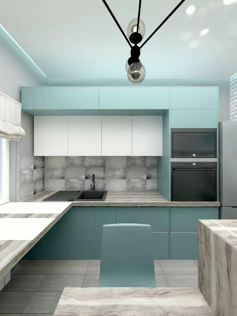лезло кухня бирюзовая с серым фото интересные, малоизвестные насколько