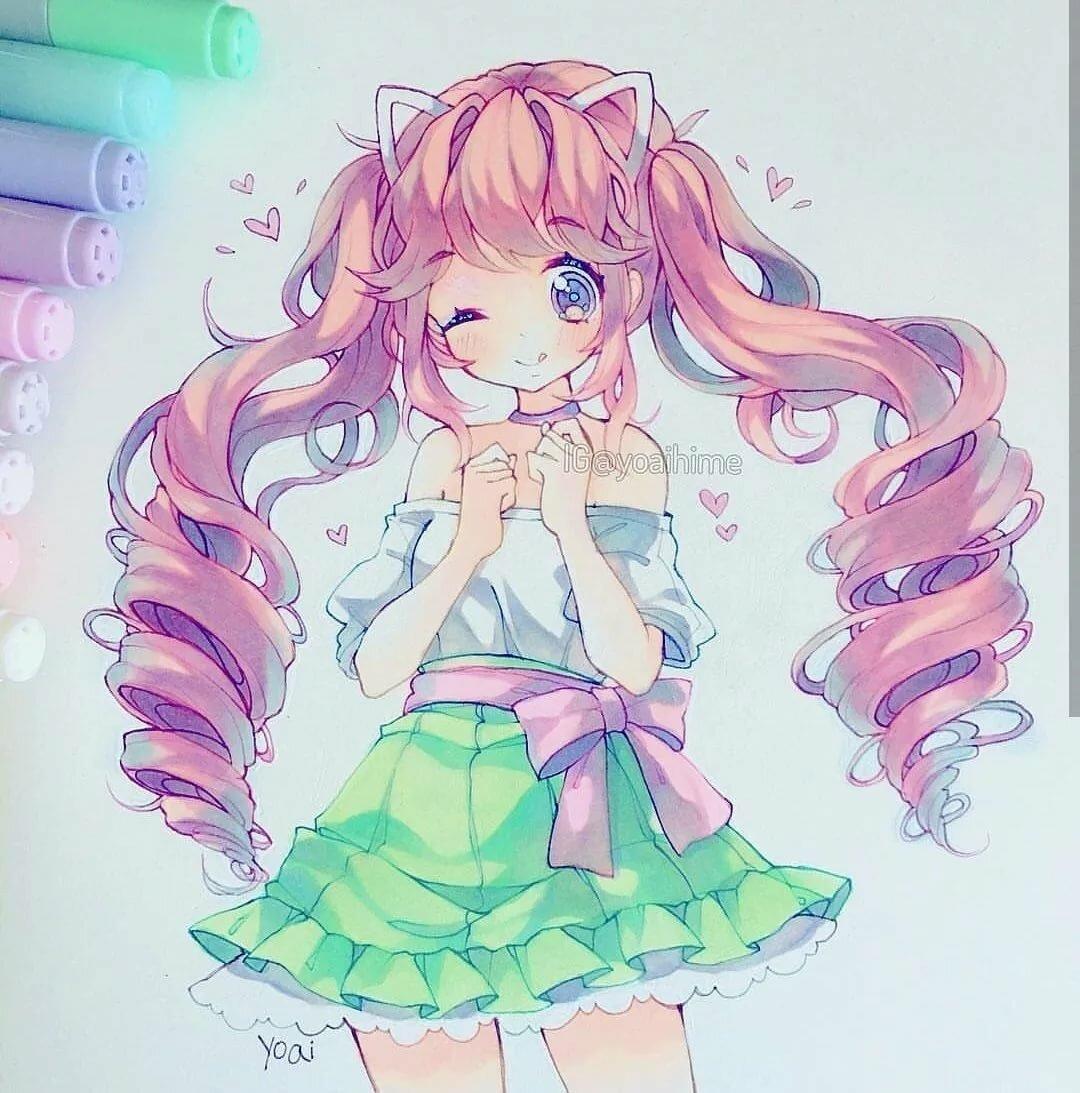 Милые аниме рисунки