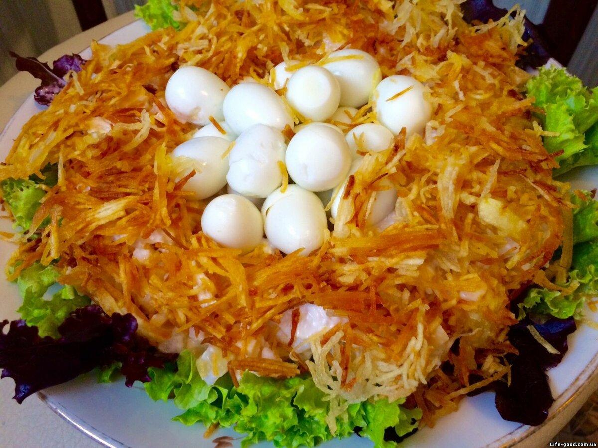 рецепт салата гнездо глухаря классический с фото урожай