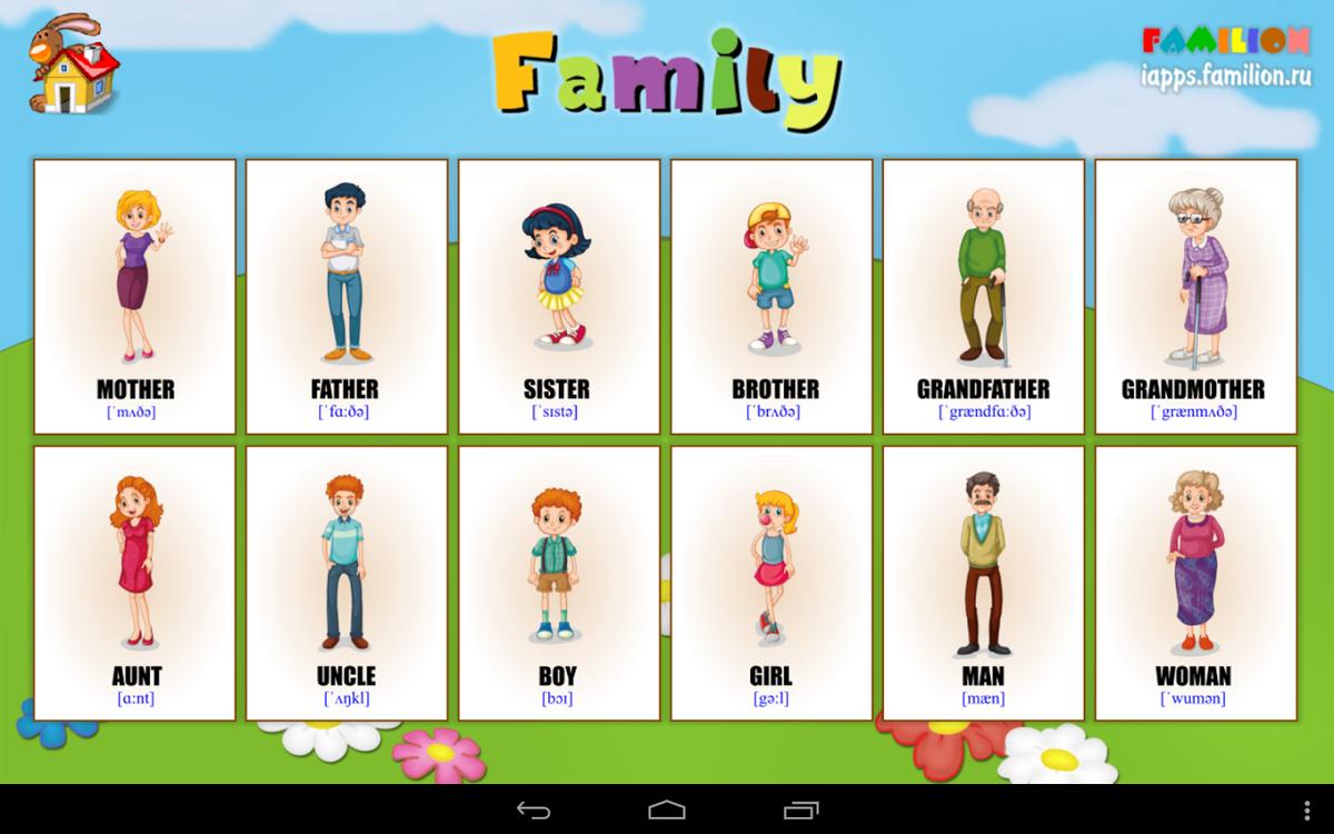 С английский в картинках для детей