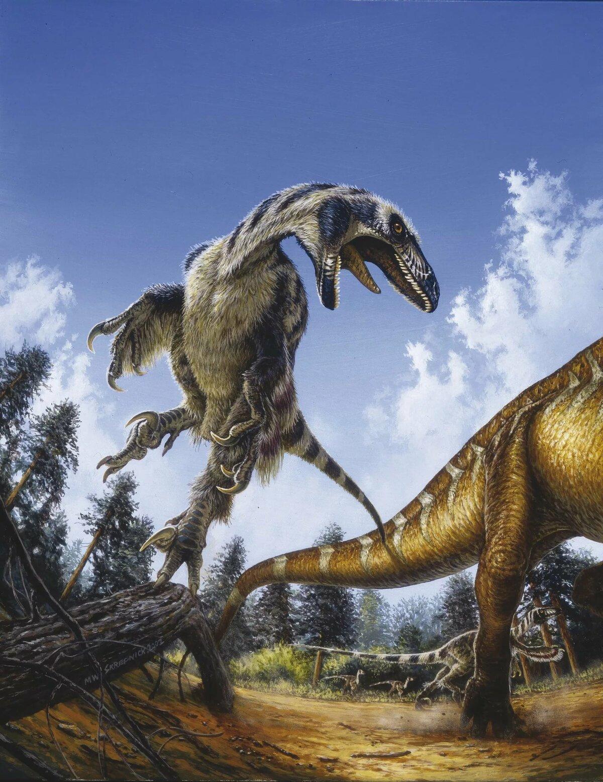 динозавр дейноних картинки речного рака