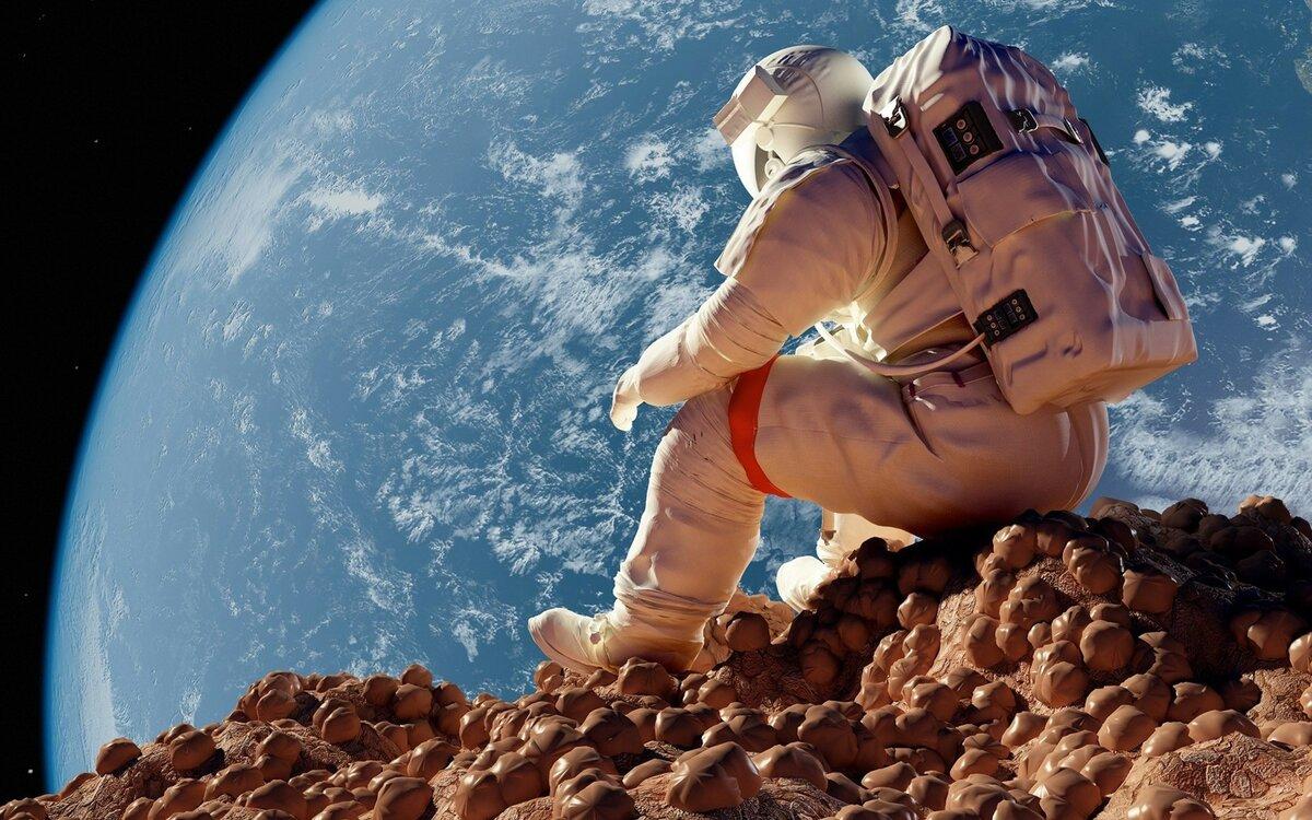 Открыток, картинки с космонавтом в космосе