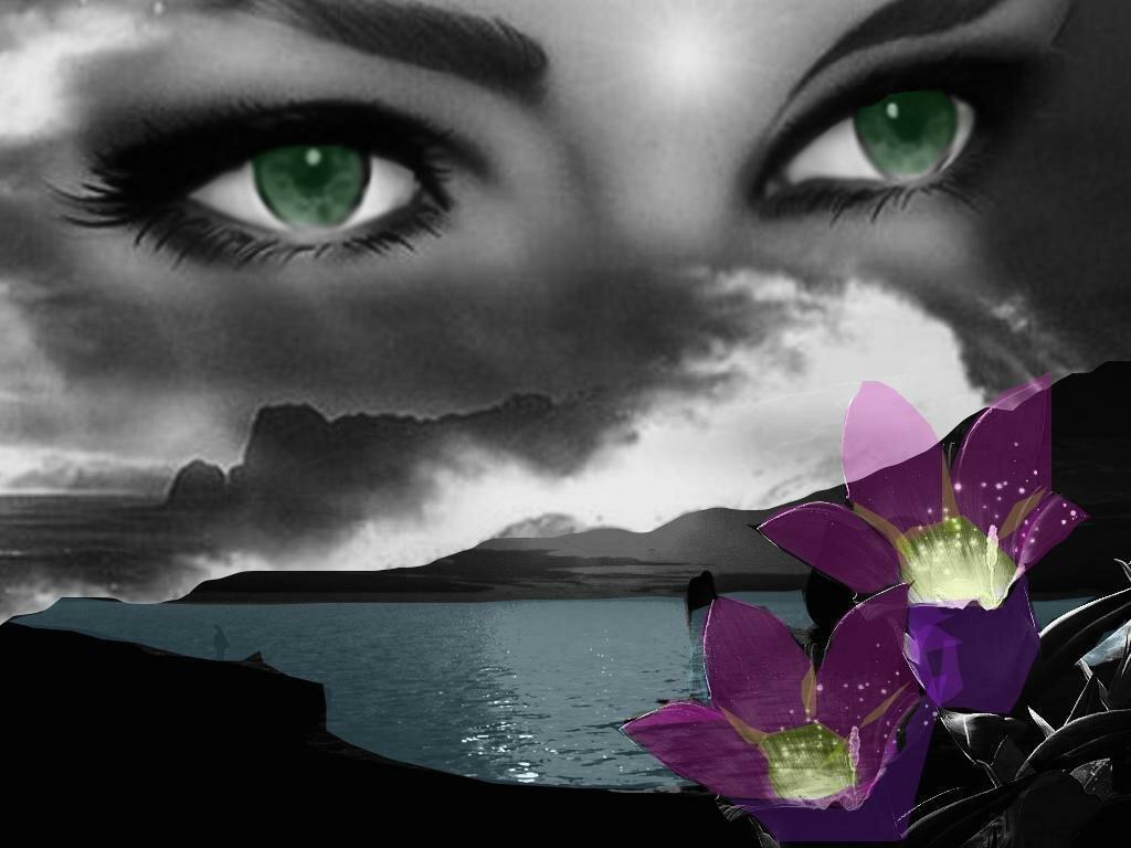 Иркутске, открытка с глазами