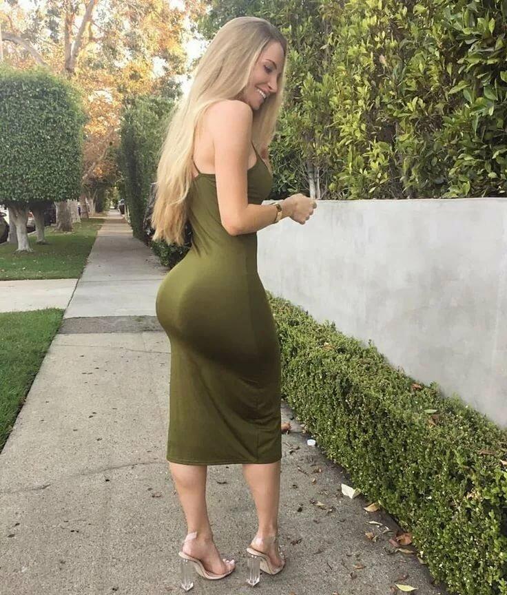 Big ass in dress