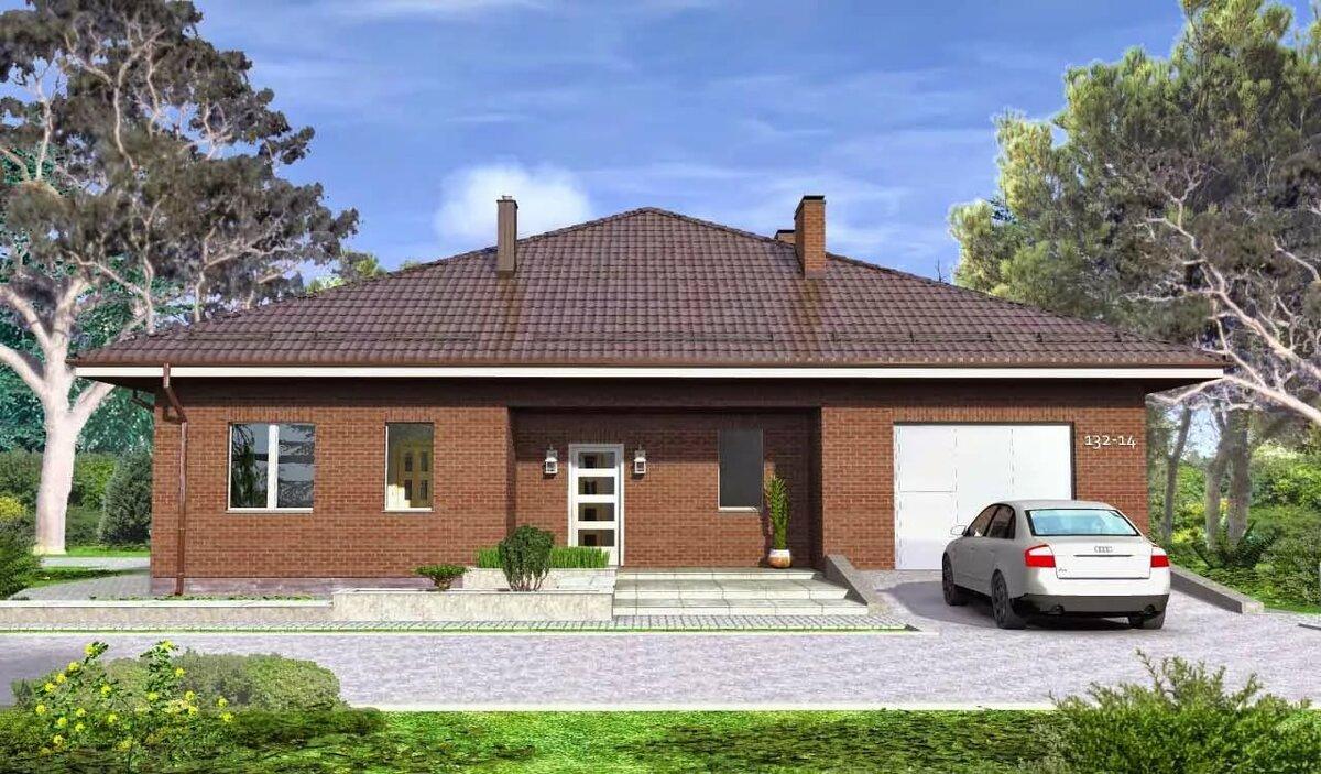 кирпичные одноэтажные дома фото и проекты домов кратко