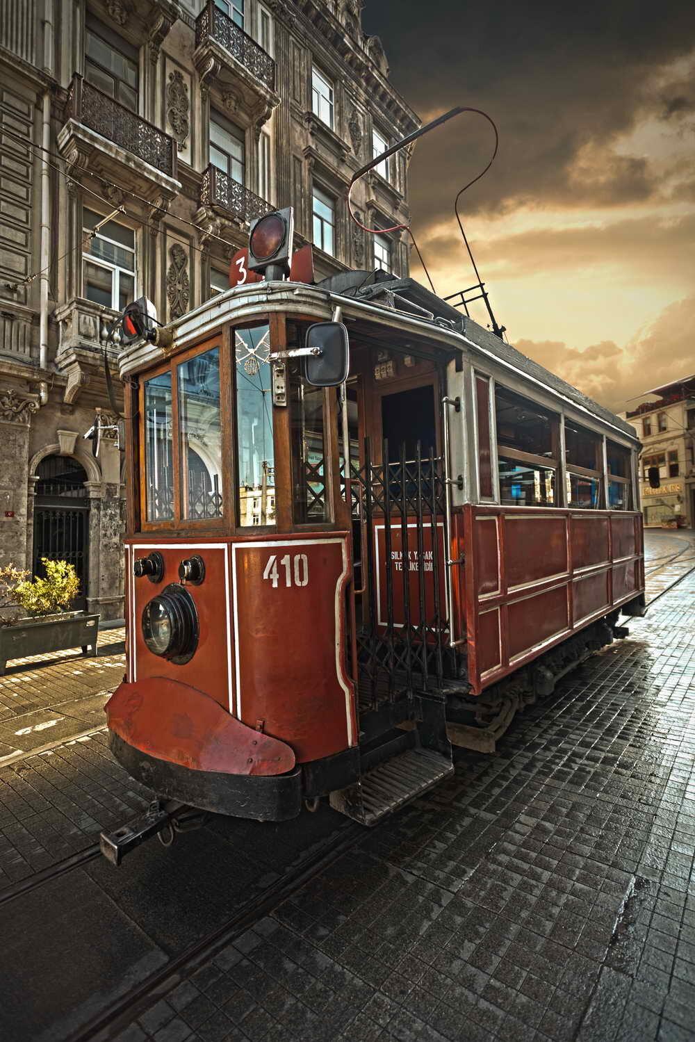 Картинка с трамваем, старинные