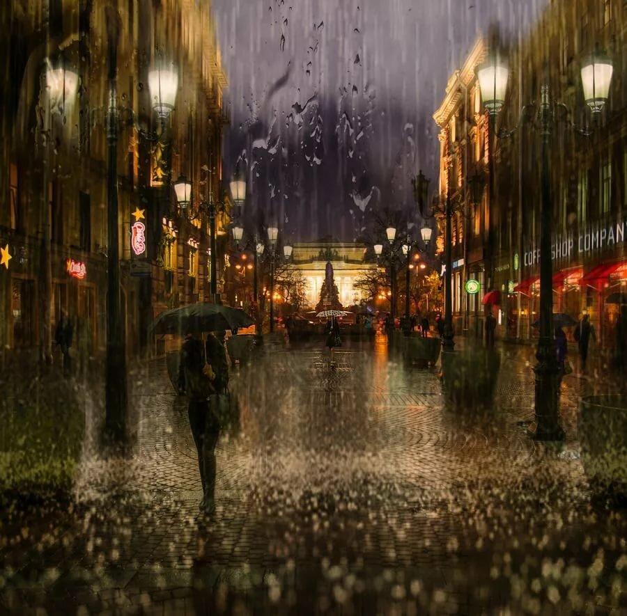 красивые картинки вечернего дождя ухоженные брови