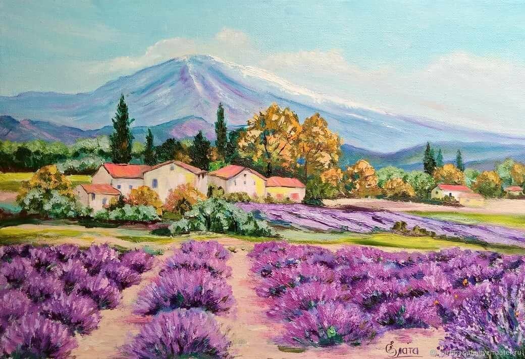 Картинки пейзажи в стиле прованс