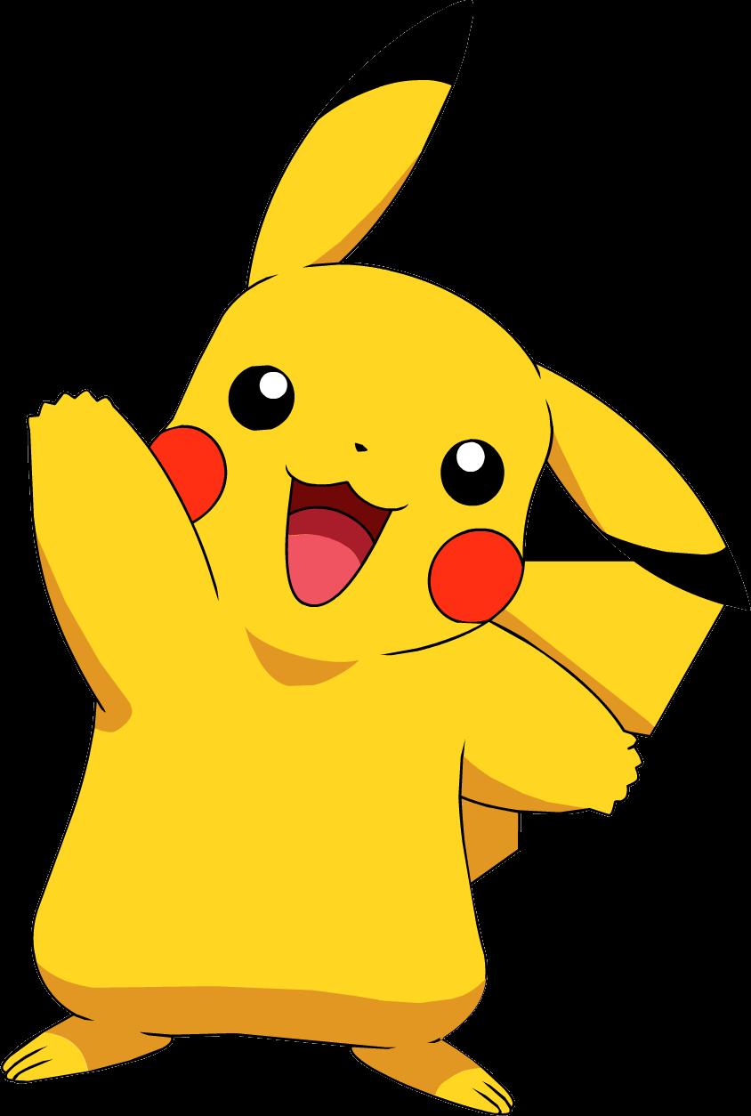 Картинка с покемоном пикачу, фото надписями картинки