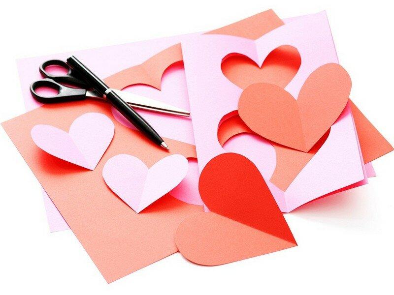 Красивая открытка своими руками на день святого валентина, анимация