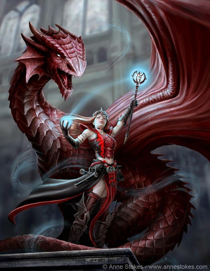 Scarlet Mage by *Ironshod on deviantART Fantasy Art: Dragons