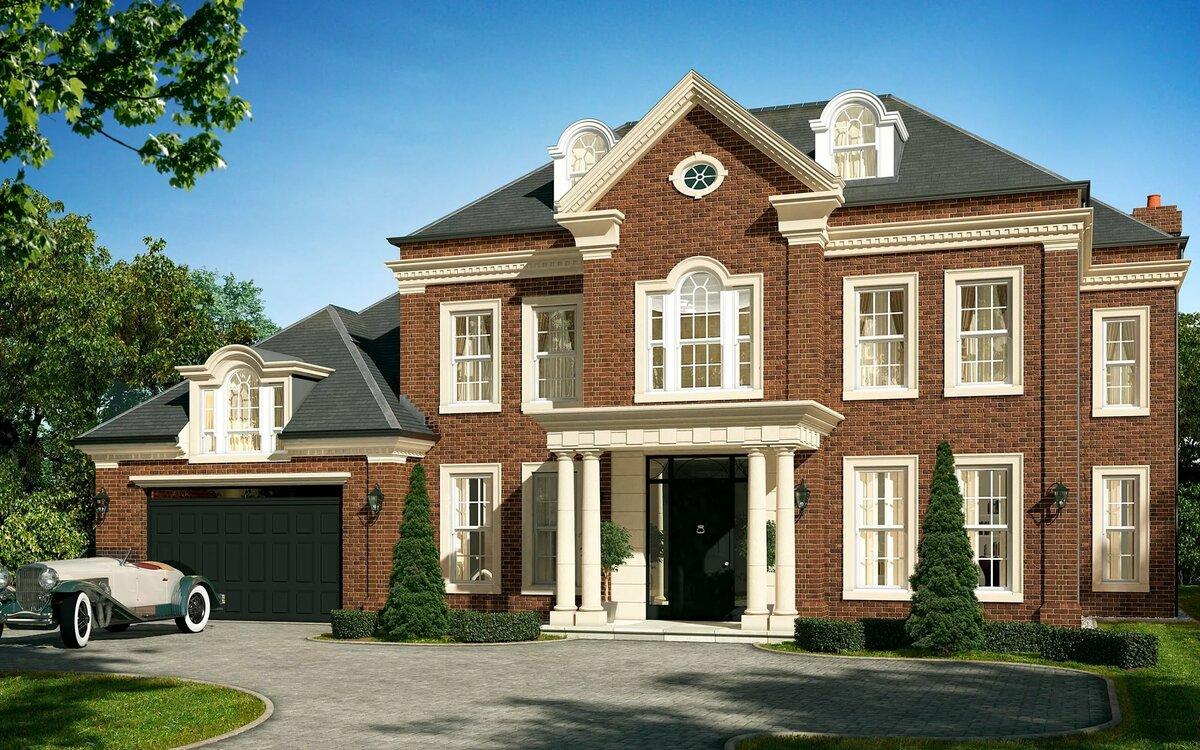 Дом в английском стиле проект фото