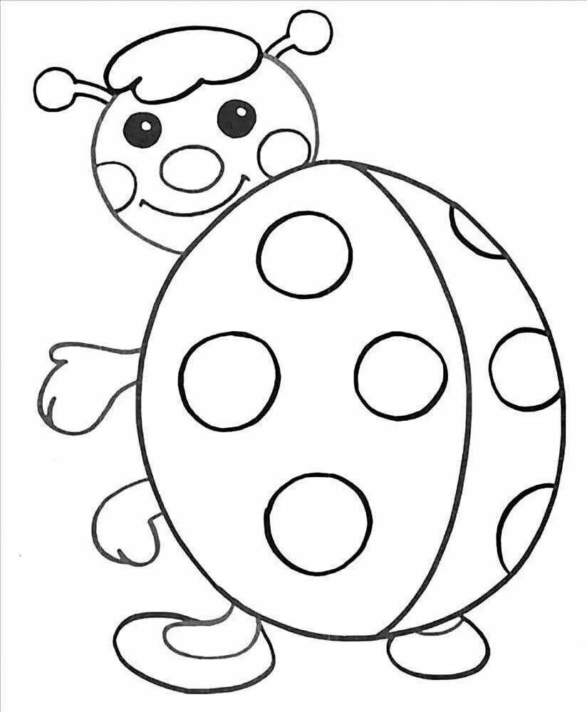 Картинки для раскрашивания детям 3-4 лет