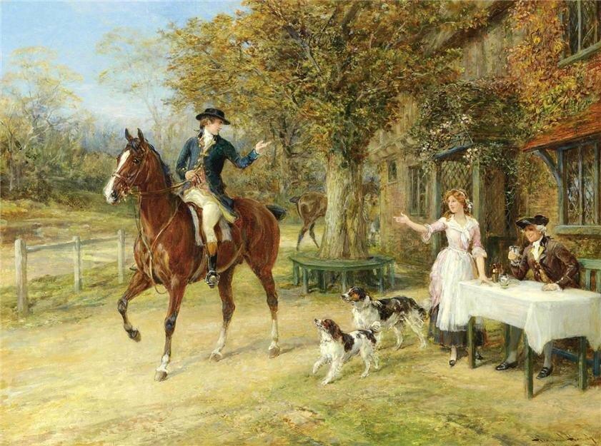 картинки для декупажа лошади и охота люди