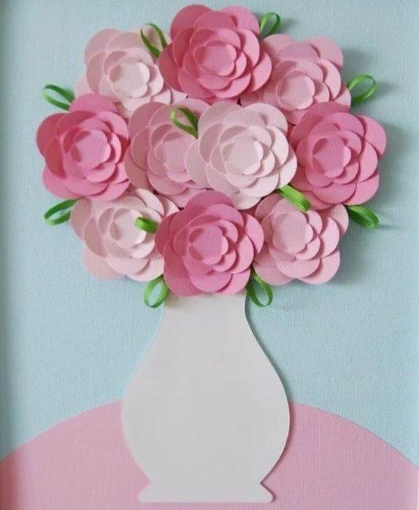 Смешное, открытка поделка с цветами