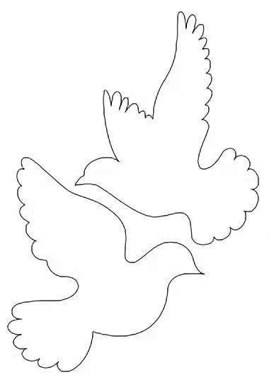 Или гифки, шаблон голубя для открытки 9 мая