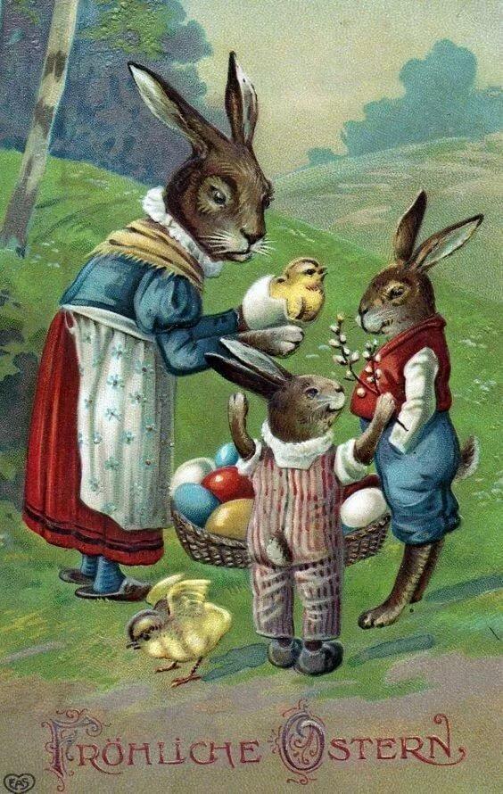 Надписью, старинные открытки с зайцами