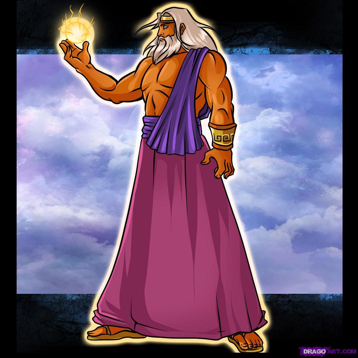 Картинка для детей бог зевса