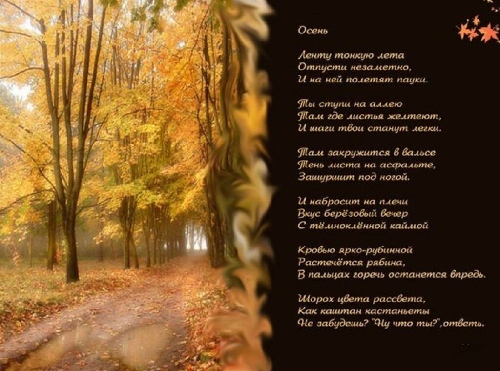 Картинка со стихом про осень