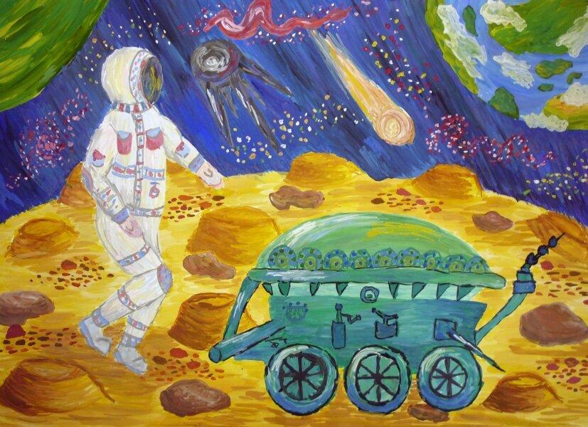 Картинки рисунки луноход