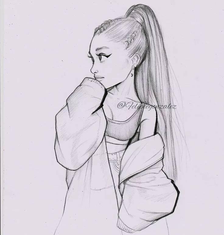 Мой любимый, прикольные картинки для срисовки девушки боком