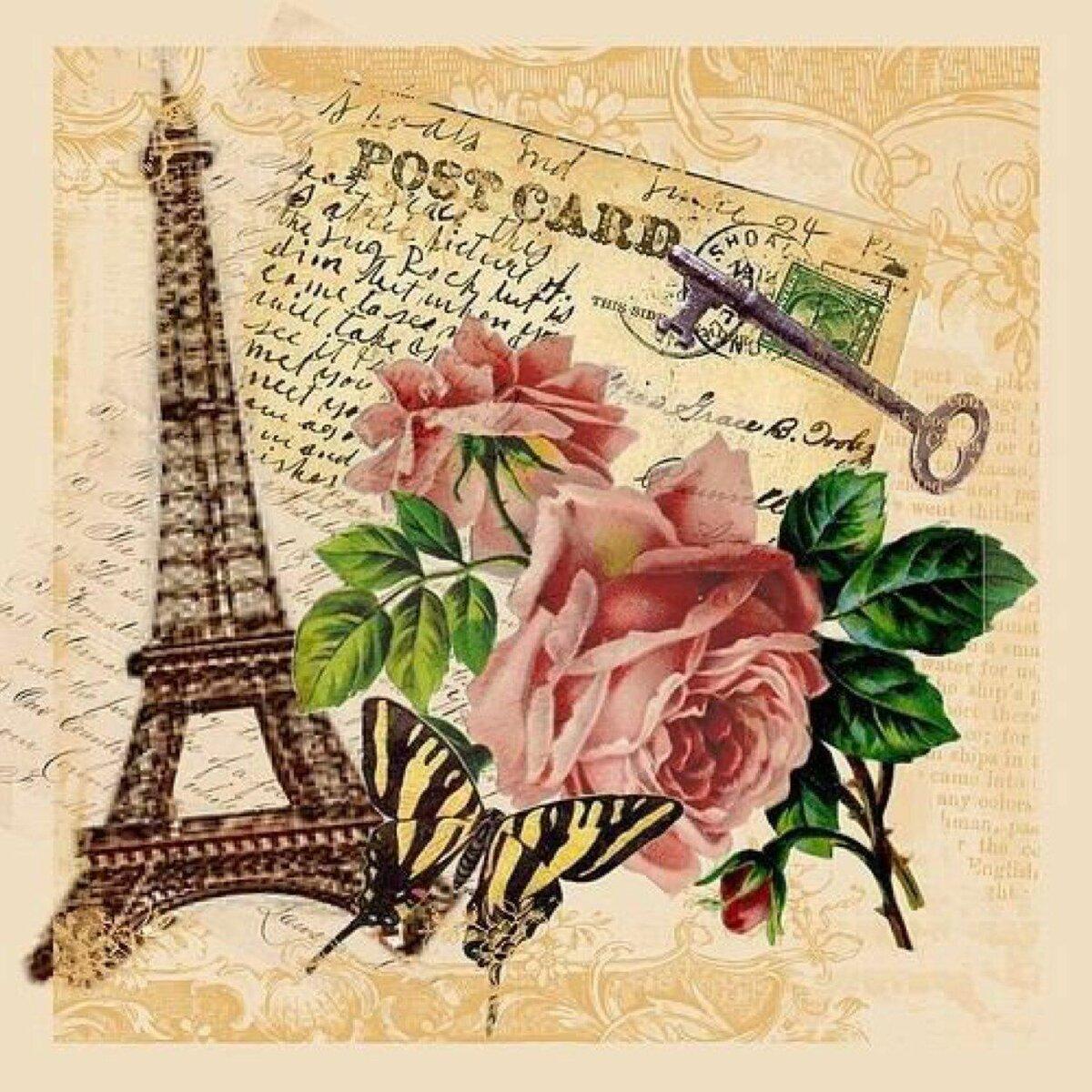 молодежная открытка для поздравления по французски панелям для
