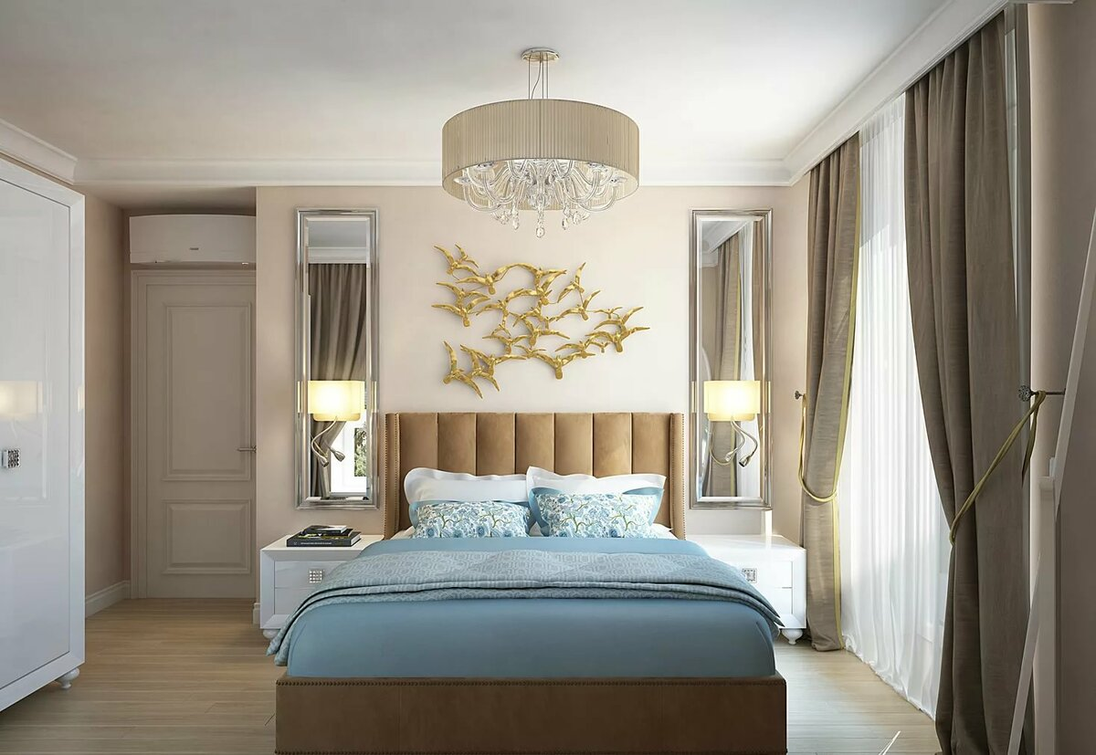 сложным спальня в стиле неоклассика фото интерьер скоростью