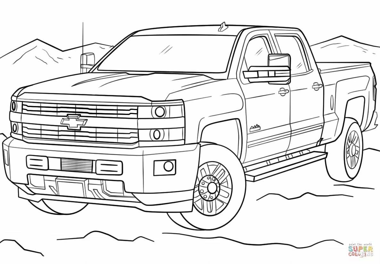 Раскраска 2017 Chevrolet Silverado Раскраски для детей ...