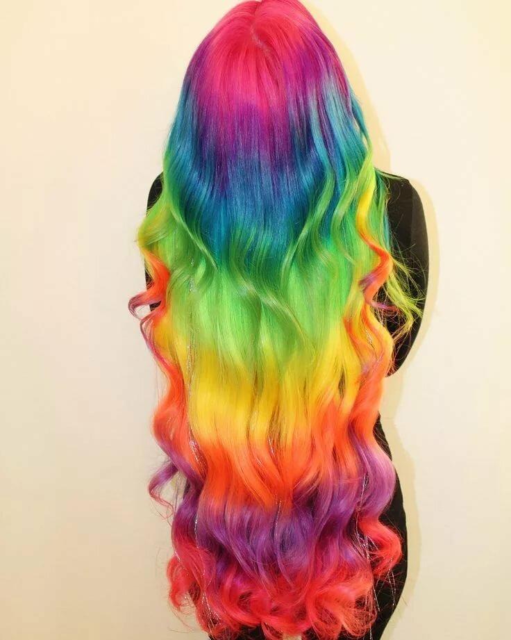 Картинки разноцветных волос