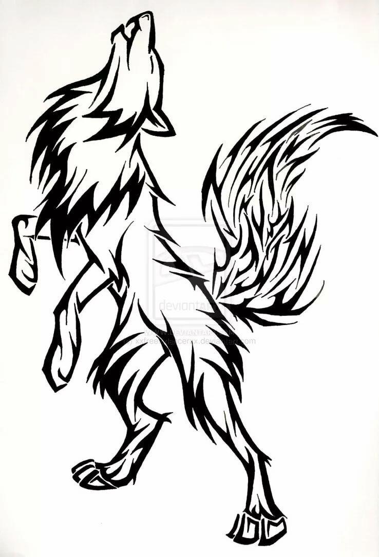 Крутые картинки карандашом волки, для