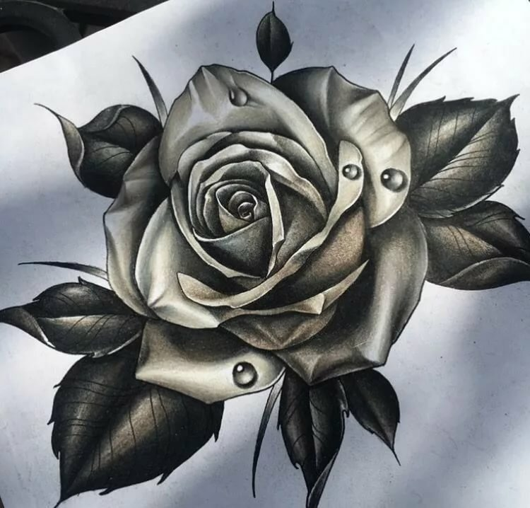 Картинки тату роз