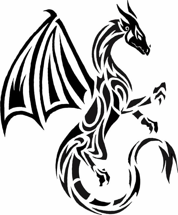 Картинки тату драконы лучшие