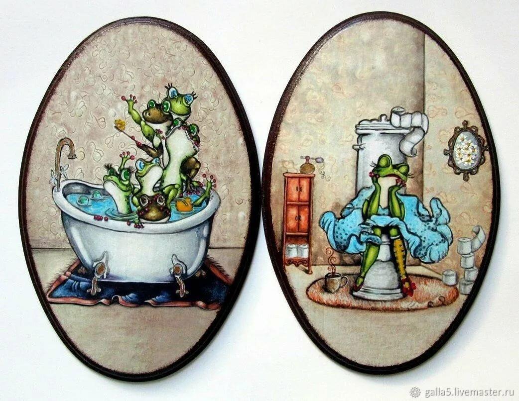 Днем, веселые картинки на двери туалета