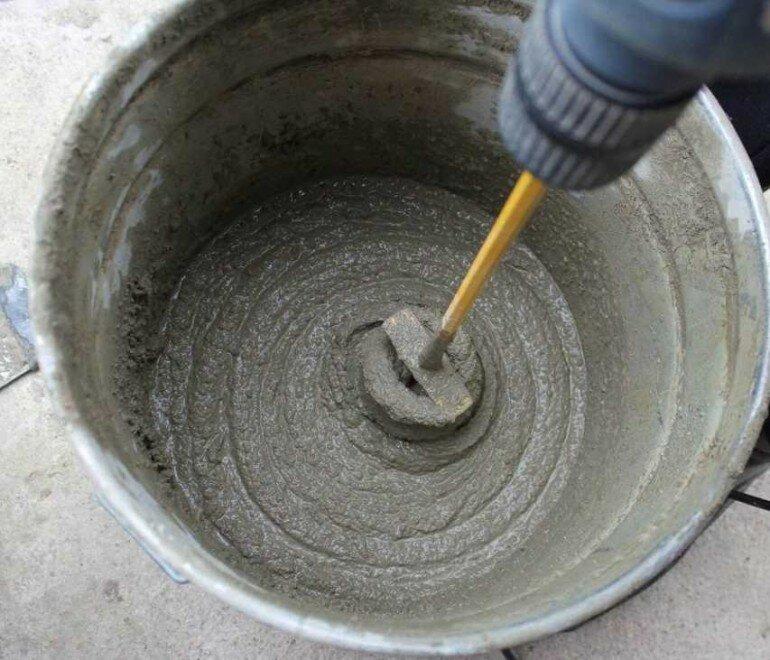 как правильно размешать цемент