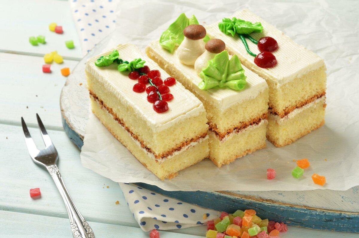 Пирожное из бисквита картинки