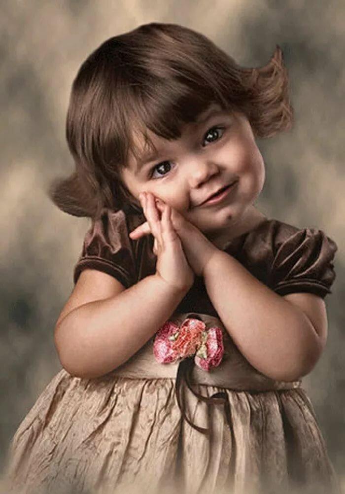 Открытка какие красивые детки
