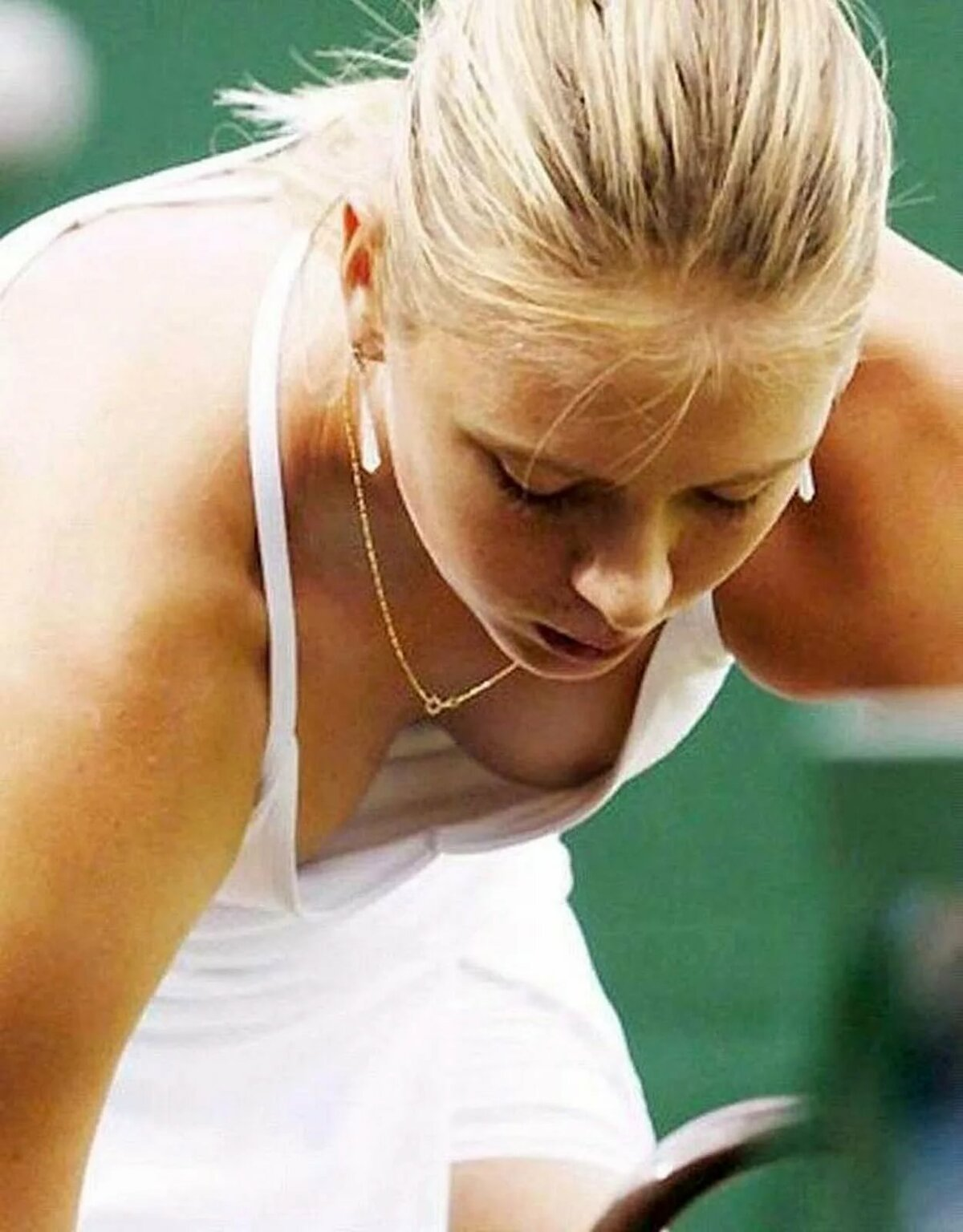Tennis boob slips