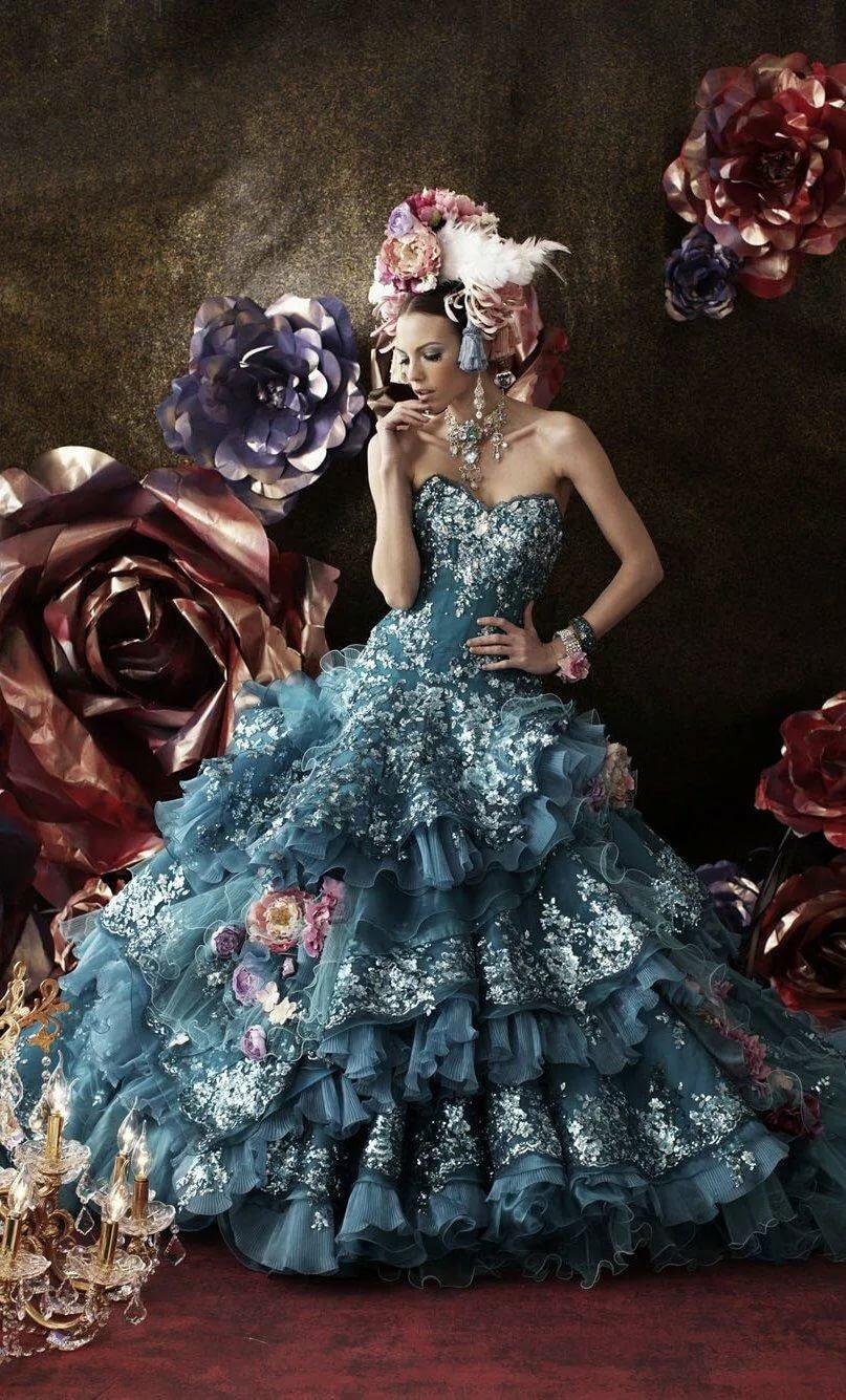 выкладывает эффектные фантастические платья фото зависит
